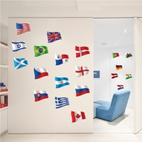 Country Flag Decal Murals - Reusable Flag Decal Stickers ...