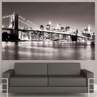 New York Bridge Mural Decal - View Wall Decal Murals ...