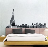 NYC Skyline Wall Mural Decal - New York Wall Decal Murals ...
