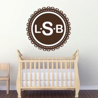 Monogram Wall Decal - Initial Stickers - Primedecals