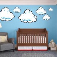 Super Mario Bros Clouds Wall Decal - Bedroom Stickers ...