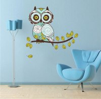 Owl Design Wall Decal - Animal Wall Decal Murals - Primedecals