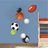 Sports Balls Wall Decal Murals - Sports Stickers - Primedecals