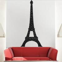 Eiffel Tower Lights Wall Mural Decal - France Wall Decal ...