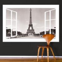 Paris Window Wall Mural Decal - France Wall Decal Murals ...