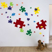 Puzzle Pieces Decal - Game Wall Decal Murals - Primedecals