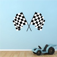 Racing Flags Wall Decal Murals - Sports Stickers - Primedecals