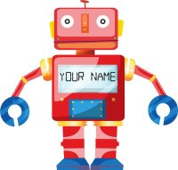 Personalized Robot Wall Decal - Custom Wall Decal Murals ...