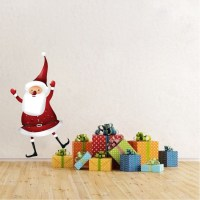 Santa Claus Dancing Removable Christmas Wall Decal Mural ...
