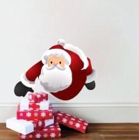 Santa Claus Removable Christmas Wall Decal Mural - Santa ...