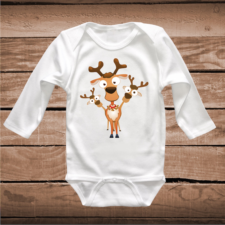 Reindeer Shirt Holiday Tees Cute Christmas TShirt In Many