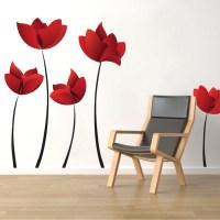 Flower Wall Decal Murals - Floral Decals - Primedecals