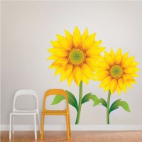 Sunflower Mural Decal -Flower Wall Decal Murals - Primedecals