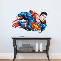 Superman Flying Wall Decal - Superman Bedroom Wall Decal ...