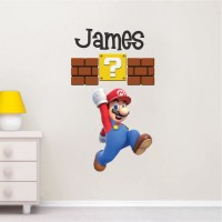 Mario Personalized Name Decal _ Super Mario Wall Decal ...
