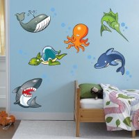 Under the Sea Wall Decal - Animal Wall Decal Murals ...