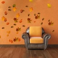 Autumn Leaves Wall Mural Decal - Seasonal Wall Decal ...