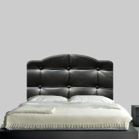 Black Cushion Headboard Mural Decal