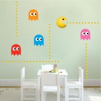 Modern Pac Man Wall Decal - Video Game Wall Decal Murals ...