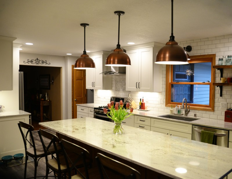Kitchen lighting by residential electrician | Prime Electric LLC