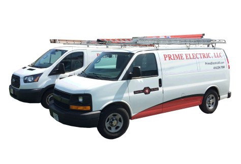 Prime Electric LLC Residential Electricians | Service Trucks