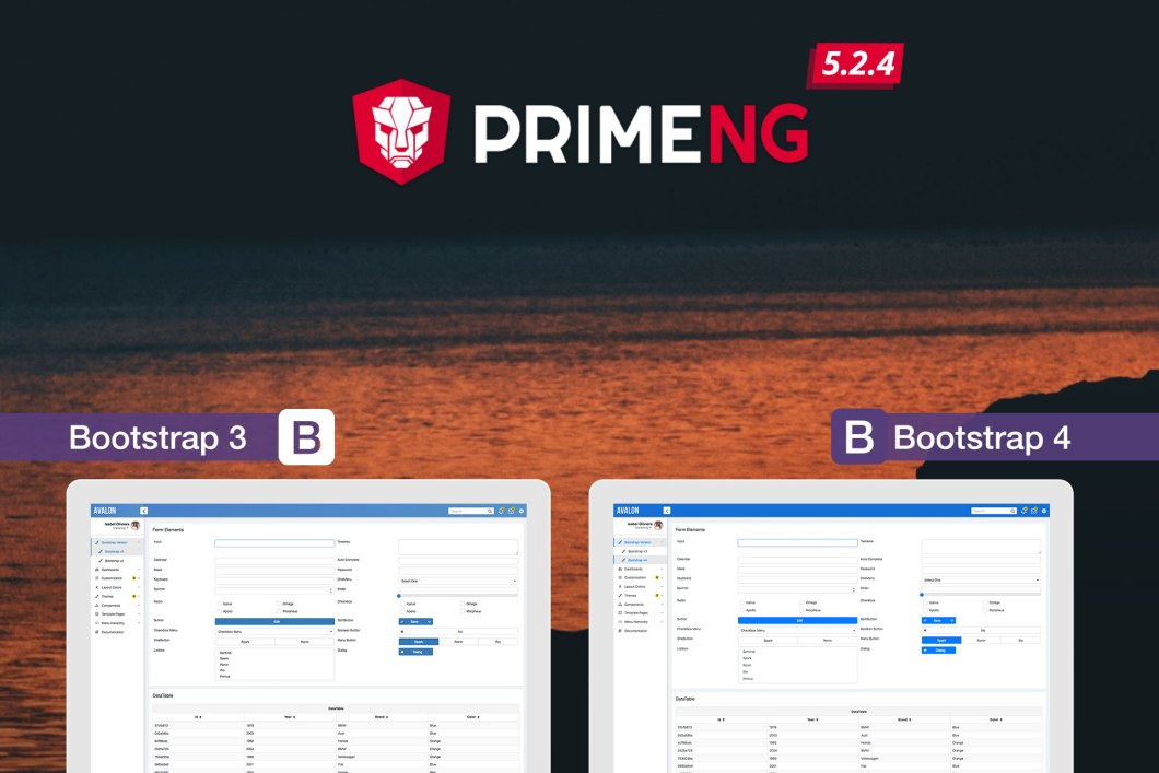 PrimeNG 5 2 4 Released with the new Bootstrap 4 Theme | PrimeFaces