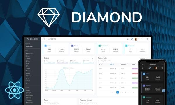 Diamond for PrimeReact