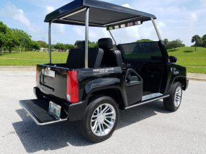 Escalade Black 4 Passenger rear view