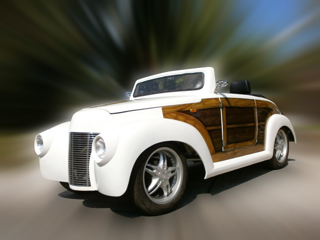 39 Roadster Custom Woody Golf Cart
