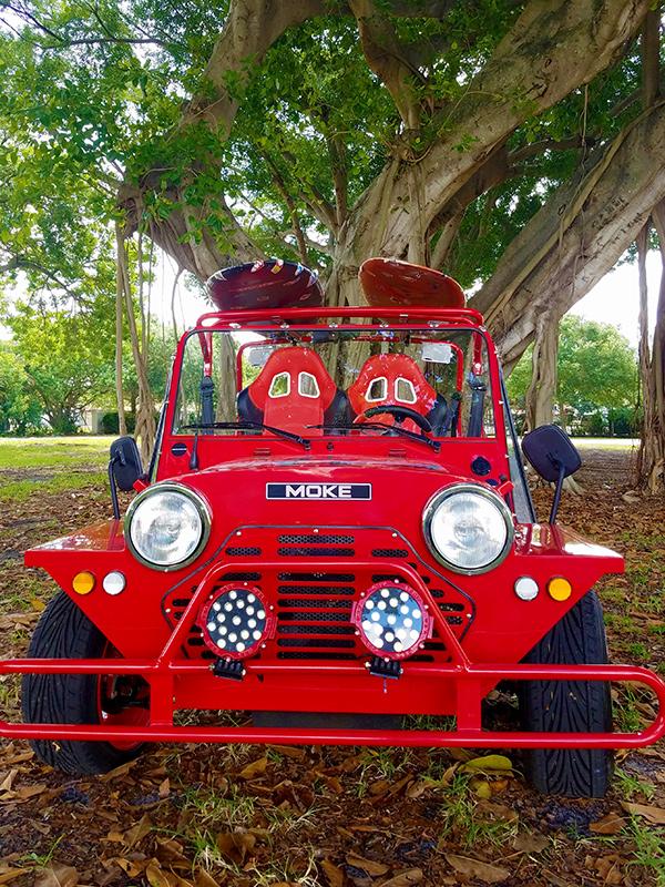 red moke golf car