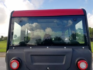 rear view of a revolution golf car