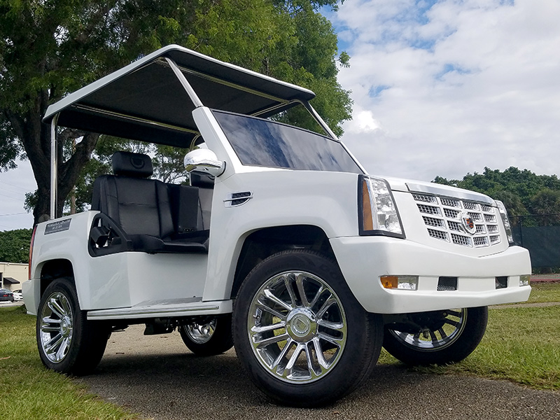 escalade golf car, escalade golf cart, cadillac escalade golf cart