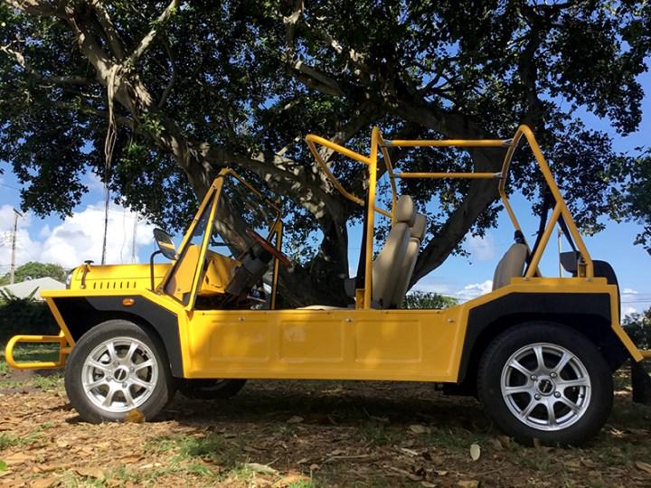 moke golf car in yellow