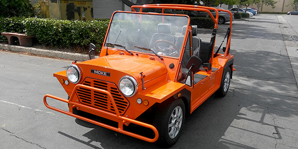 orange moke golf car