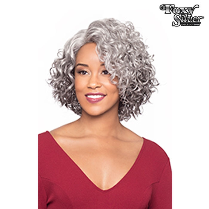Foxy Silver Synthetic Natural J Part Lace Wig 10849 MARTINA