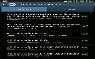 How To Use Trusted Credentials On Samsung Galaxy S4