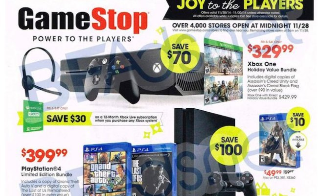 Gamestop Black Friday Ad Leaks Xbox One And Ps4 Bundle