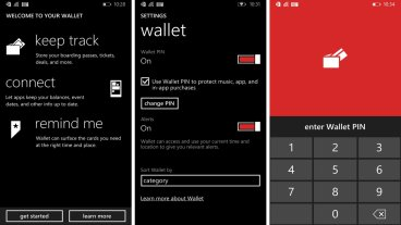 Windows Phone 8 - Wallet PIN Screen