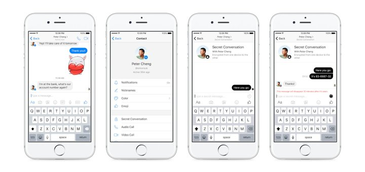 Facebook Messenger - Secret Conversation
