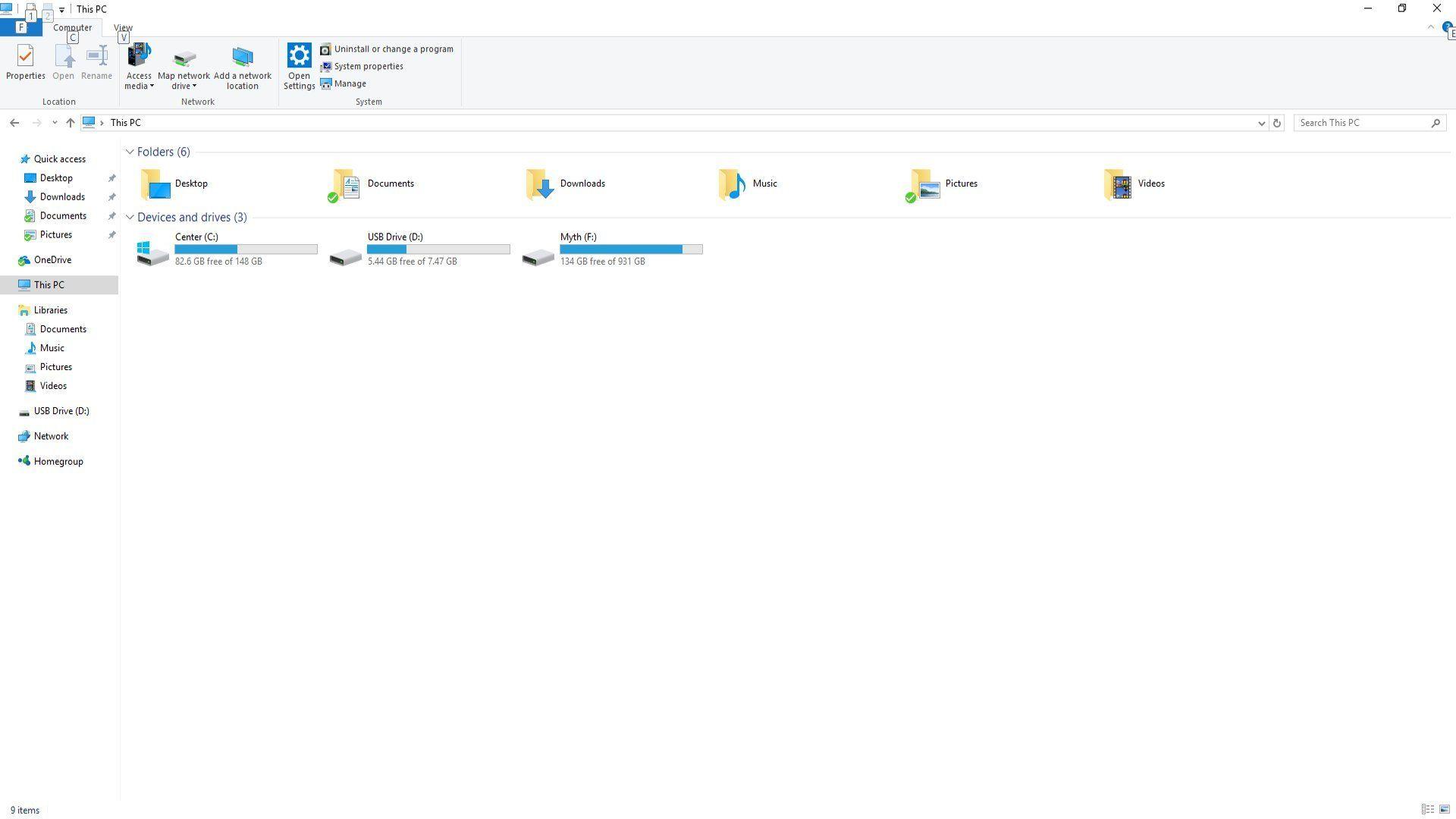 Windows 10 - File Explorer