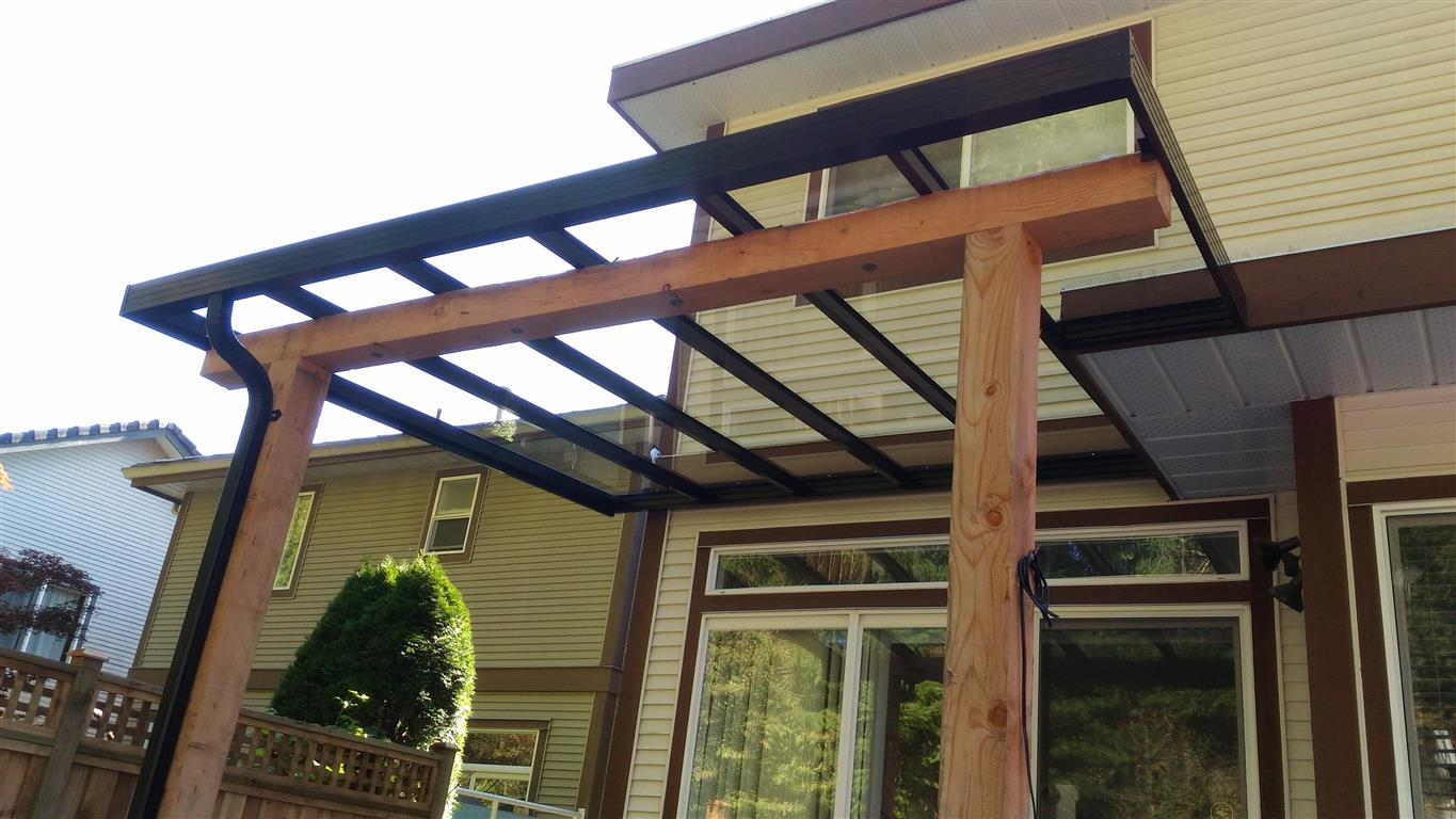 glass and aluminum patio covers