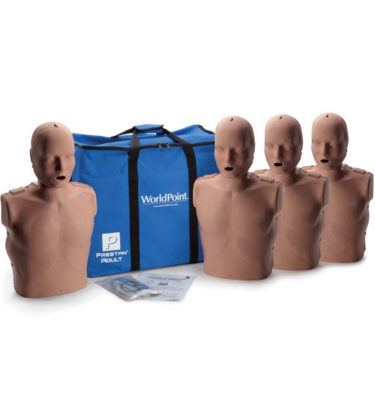 Prestan® Adult Manikin with CPR Monitor - Dark Skin - 4 Pack