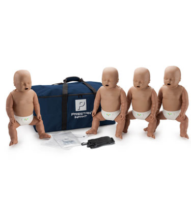 Prestan® Infant Manikin with CPR Monitor - Dark Skin - 4 Pack