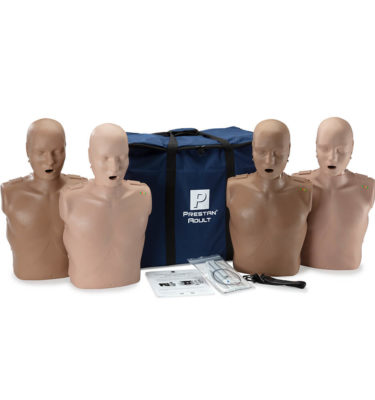 Prestan® Professional Adult Diversity Kit CPR Training Manikins with CPR Monitor - 4 Pack