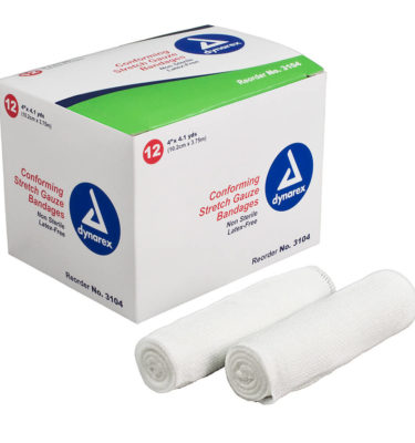Polyester, stretch gauze Self-adhering; stays in place with minimal taping 4.1 yards, stretched Packed in convenient, sturdy dispenser boxes Non-sterile