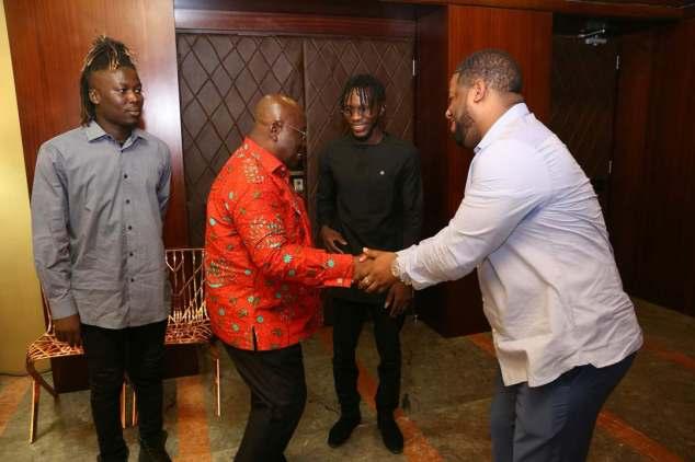 D Black, Wisa & DJ Breezy Visit Prez. Nana Akuffo Addo