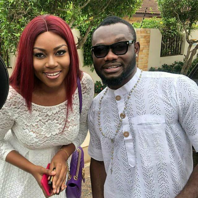 Actress Yvonne Nelson and Prince David Osei at John Dumelo's wedding