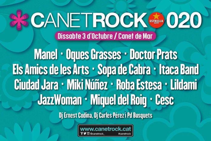 Cartell Canet Rock 020 amb nova data