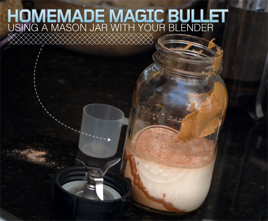 Homemade Magic Bullet Using a Mason Jar with Your Blender