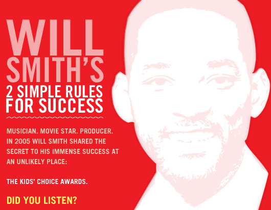 Will Smith's 2 Simple Rules For Success Primer